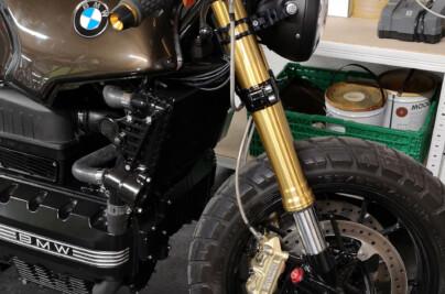 BMW K100 BMW S1000RR Conversione Fork Acciaio linee freno flesso Moto