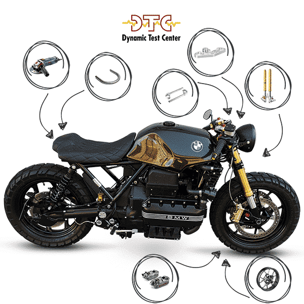 DTC Report Rear Shorten Telaio Accorciamento e Conversione Frontale USD Fork BMW K75 K100 K1100 K1