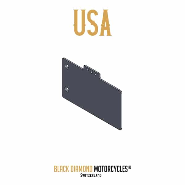 License plate mount holder USA BMW Boxer R80 R100