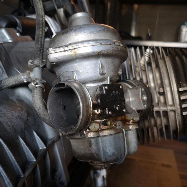 Carburatore BMW R100 Boxer prima della conversione