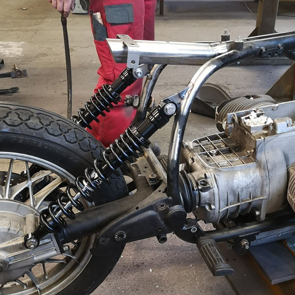 BMW R100 Sedile Tubo CNC
