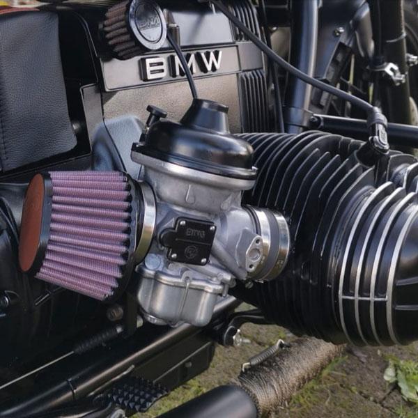 BMW R100 mit Sportluftfilter geprüft und eingetragen Schweiz