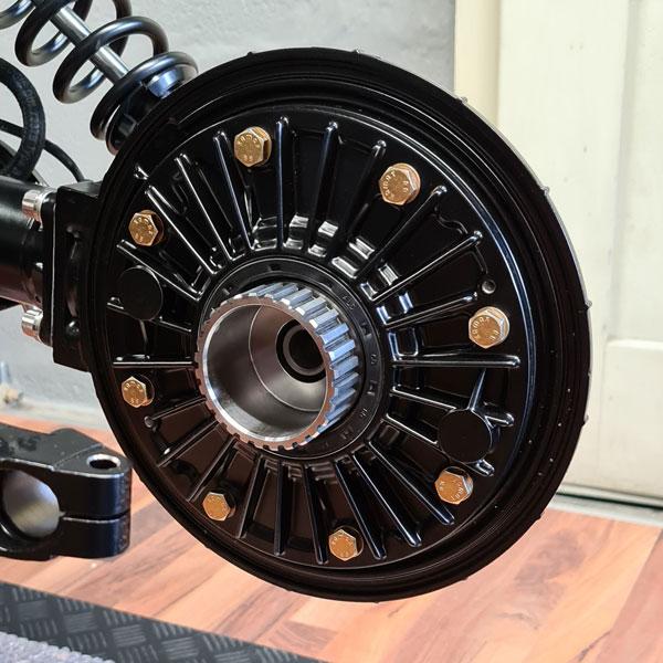 Endantrieb frisch revidiert und pulverbeschichtet BMW R100 Bobber Black Diamond