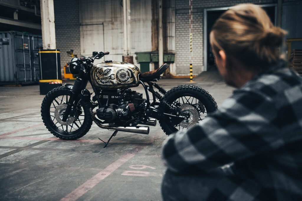 BMW R100 with owner BDM