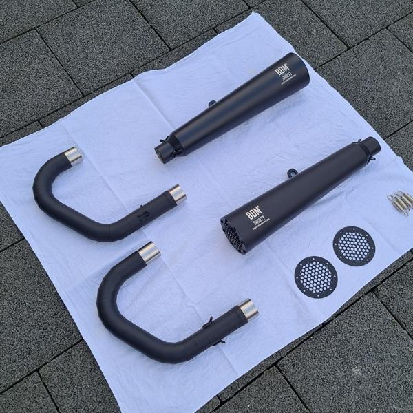 BMW R100 Auspuff schwarz keramikbeschichtet für Bobber Umbau Cafe Racer Umbau