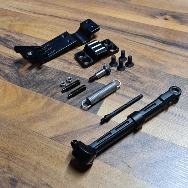 Seitenständer schwarz eloxiert Alu BMW R45 R65 R80 R100